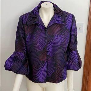 Frascara VTG purple/black dress jacket  S 14